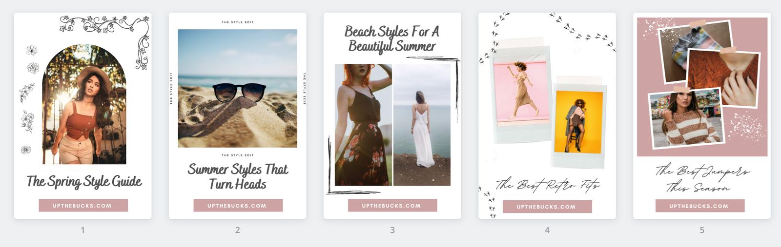 Pinterest Templates for Fashion