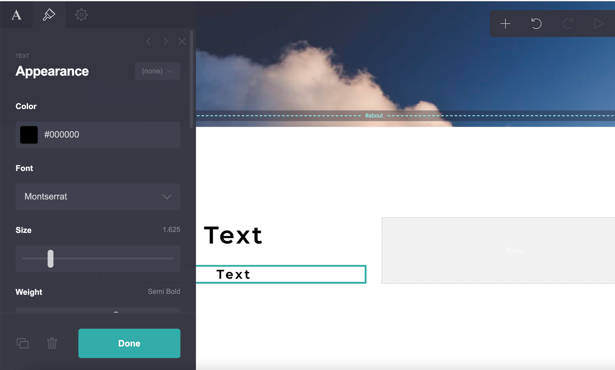 Carrd text boxes