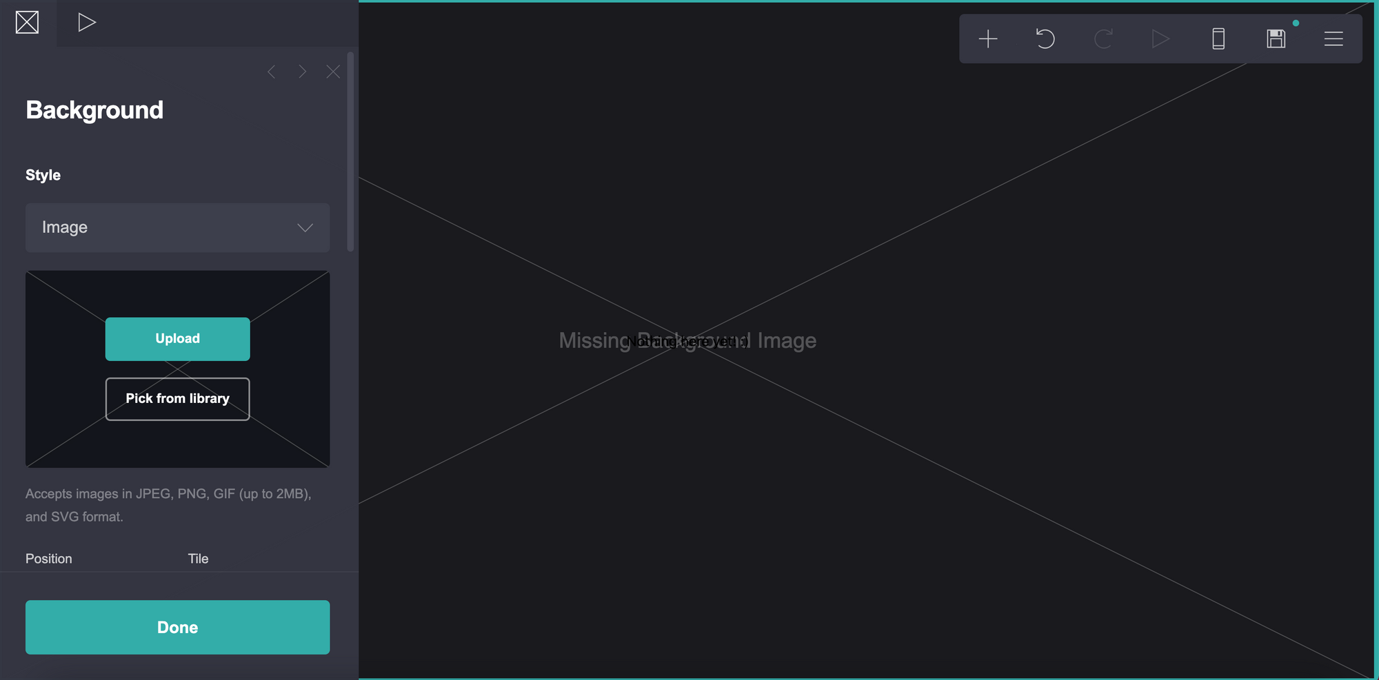 Background image selector