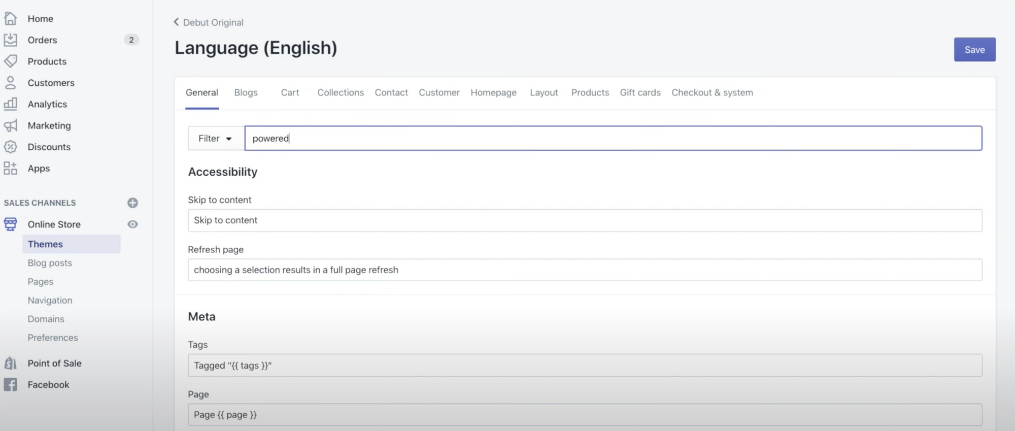 """Edit Languages: Filter for """"powered"""""""